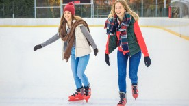 Eisbahn, Schlittschuhfahren