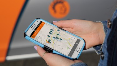Carsharing Auto finden über App