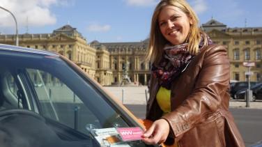 Carsharing Auto öffnen mit Kundenkarte