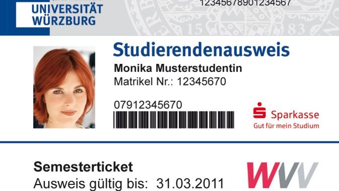 Studierendenausweis Uni Würzburg
