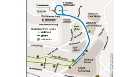 Planung der Straßenbahn-Erweiterung Grombühl