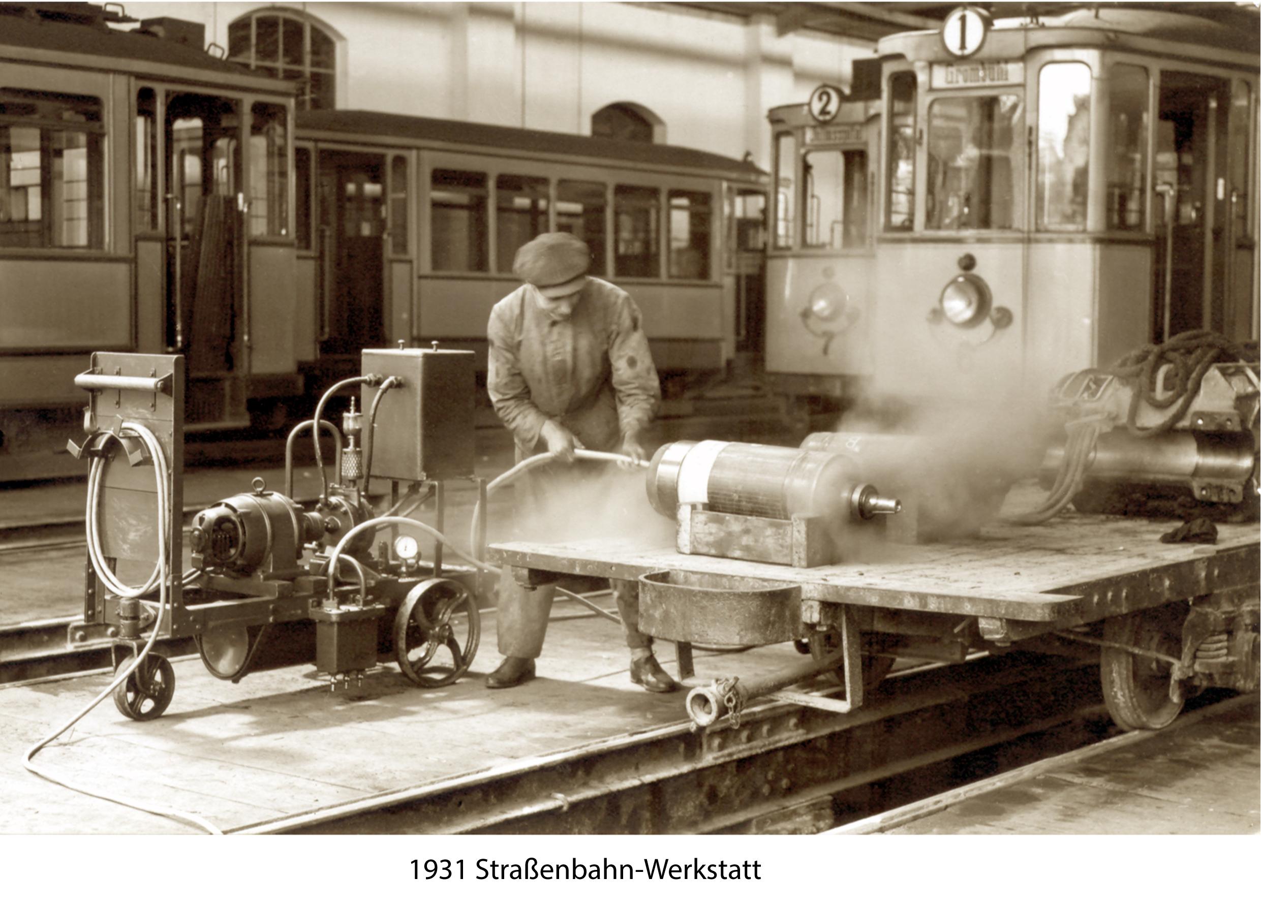 1931 Straßenbahn Werkstatt
