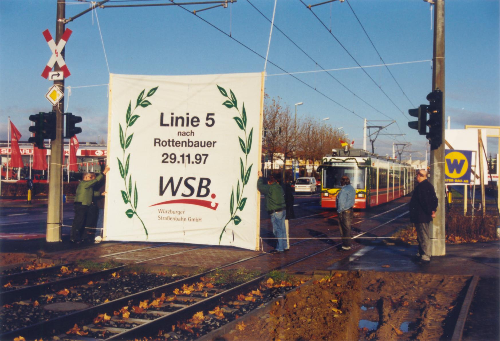 1997 Eröffnung Straba-Linie Rottenbauer
